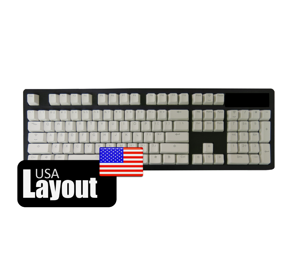 Tai-Hao ABS Backlit Double Shot Keycaps White Rose USA
